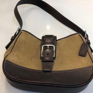 Small Coach purse - tan/brown